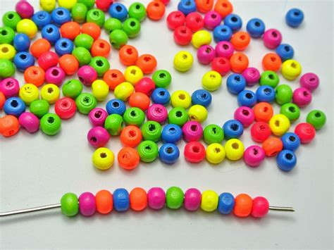 bead it aliexpress buy 500 mixed neon color wood