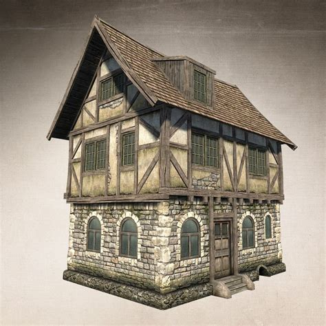 fantasy houses low poly model of fantasy medieval house model ideal for