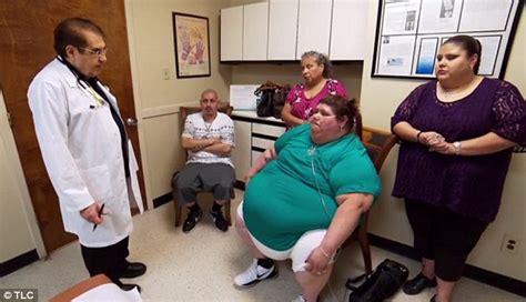 nowzaradan obese obese woman left battling pneumonia following her weight