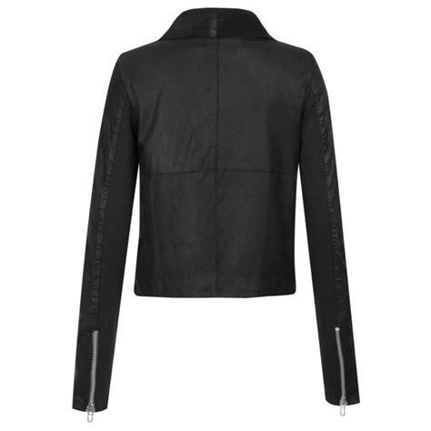draped suede jacket muubaa alexis drape suede jacket in black