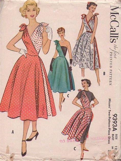 vintage patterns 1950s a vintage 50s sewing patterns dresses pattern rare 1950s 1950s cut parties dresses vintage