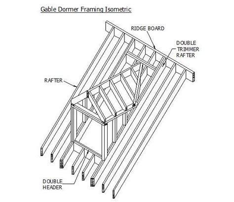 Dormer Construction Detail Cad Detail Of Gable Dormer Framing