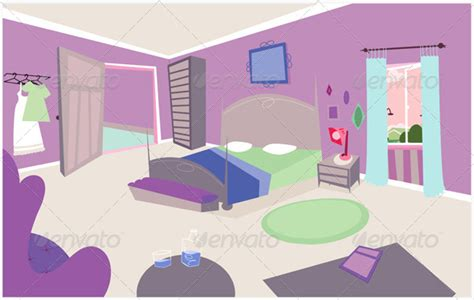 bedroom cartoon design vector background design cartoon bedroom by svenpowell