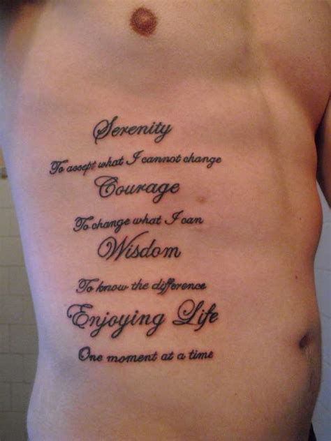 mens tattoo quotes pinterest mens quote tattoo quot serenity courage wisdom enjoying
