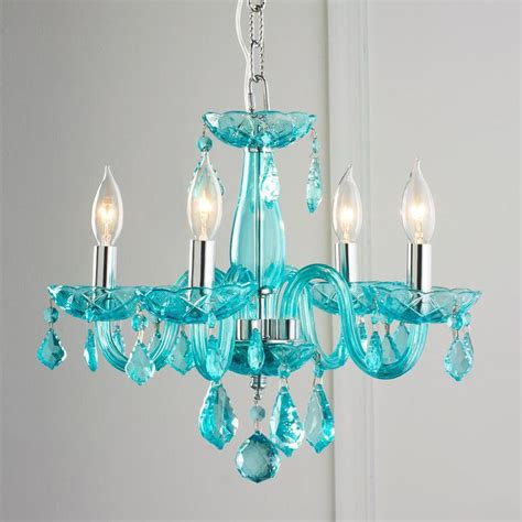 Color Chandelier Color Mini Chandelier Powder Turquoise And Walk In