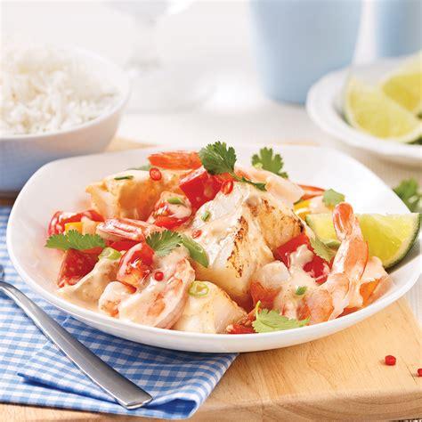 cuisine et mijot駸 mijot 233 de crevettes et poisson au lait de coco recettes