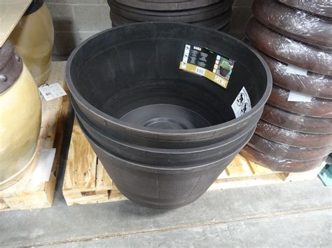 Resin Whiskey Barrel Planter by Whiskey Barrel Resin Planter Price Reduction Alert