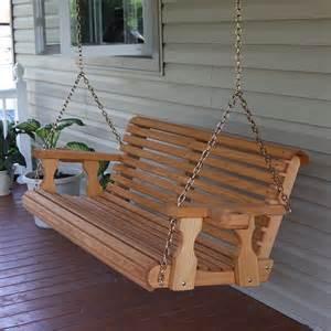 Patio Swing Centerville Amish Heavy Duty 700 Lb Roll Back Wooden Swing