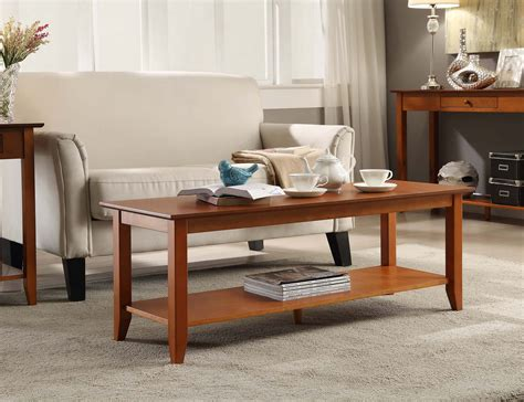 convenience concepts heritage coffee table convenience concepts heritage coffee table with shelf