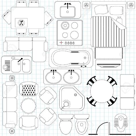 furniture templates for floor plans plan view furniture clipart 81