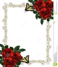 roses rouges d invitation de guindineaux de cadre wedding photographie stock image 9685682