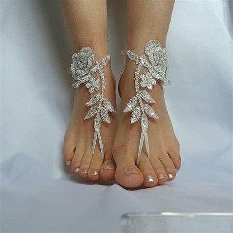 Frame Foto Sandal ivory silver frame barefeet wedding country wedding