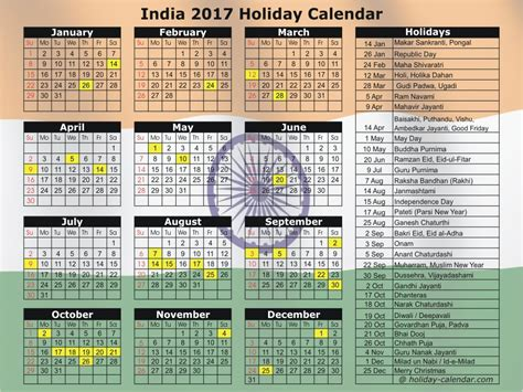 Calendar 2017 Excel With Holidays India India 2017 2018 Calendar