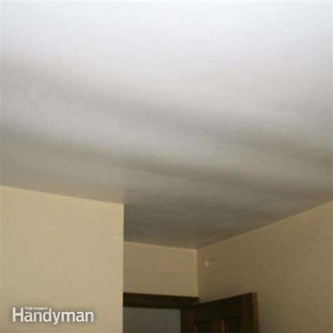 how to drywall ceiling ceiling repair fix a sagging ceiling the family handyman