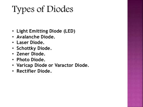types of varactor diodes semiconductor diode