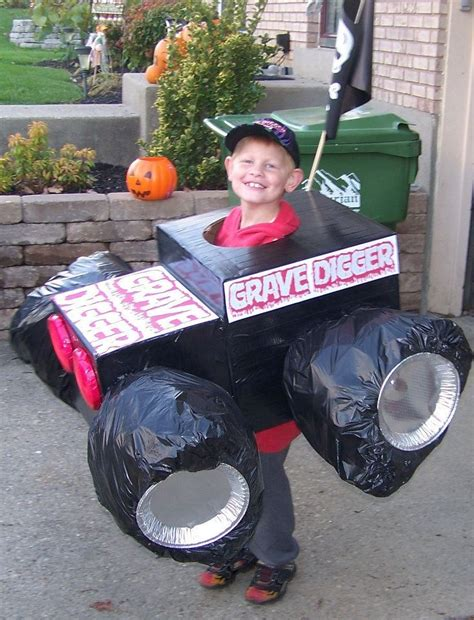 grave digger monster truck costume this is our homemade grave digger monster truck halloween