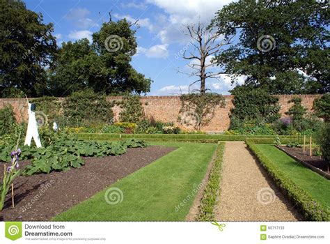 Walled Garden Nursery Walled Vegetable Garden Stock Photo Image 60717133