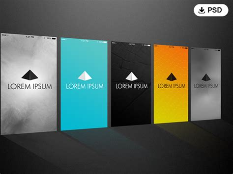 splash page template 5 iphone splash screen psd template on behance