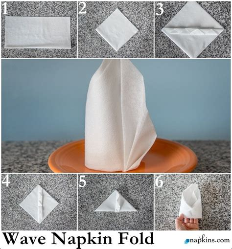 Paper Towel Napkin Folding - wave napkin fold how to fold a napkin