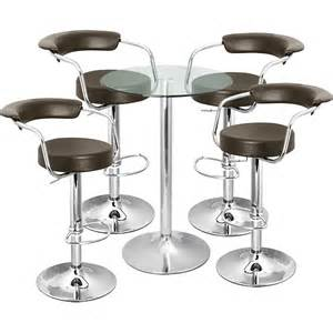 Bar Table And Stool Set Zenith Bar Stool And Vetro Table Set Brown Drinkstuff