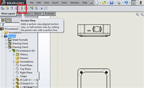 types of section views 3 useful types of drawing views in solidworks 12cad com