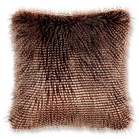 Faux Fur Pillow by Faux Fur Pillow Cover Brown Owl Feather Williams Sonoma