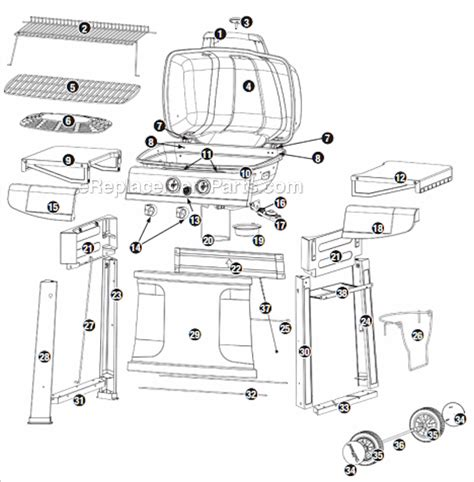 Backyard Grill Parts List Uniflame Gbc820wc C Parts List And Diagram