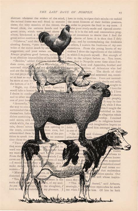 vintage printable animal free vintage print farm animals bing images diy wood