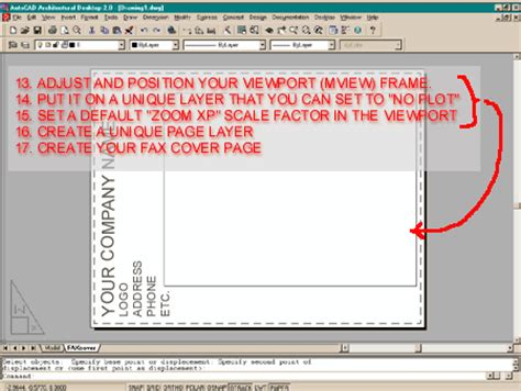 autocad layout zoom scale autocad 2000 layouts for winfax