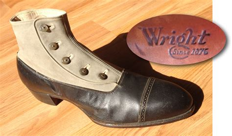 1920s men s 5 button shoe by wright the baltimore