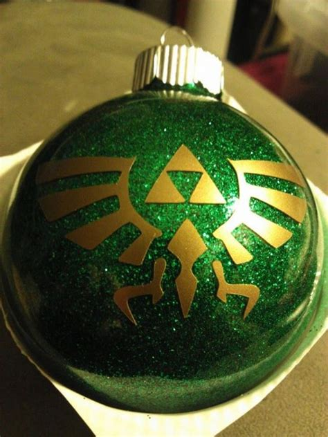 legend of zelda triforce ornament personalizable the