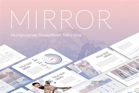 Mirror Modern Powerpoint Template By Site2max On Envato Elements Envato Powerpoint Templates