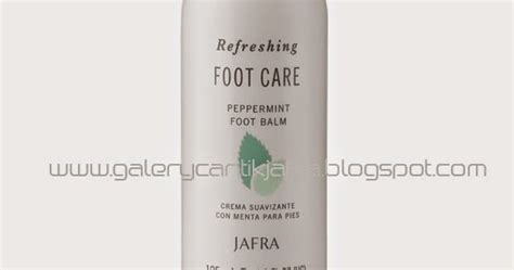 Jafra Advance Balancing Lotion Spf 15 peppermint foot balm