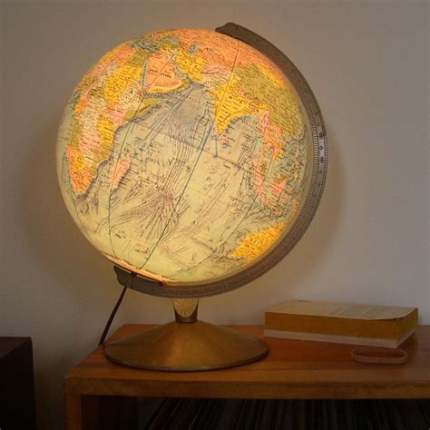 beautiful light up globe replogle world vision