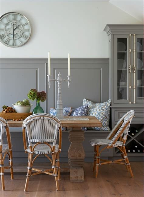 Dining Room Bistro Table And Chairs Nantucket Sophisticate Style Dining Room Boston By Threshold Interiors