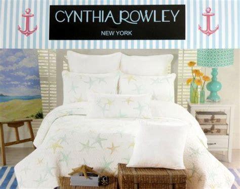 cynthia rowley new york bedding cynthia rowley starfish quilt twin size white aqua blue