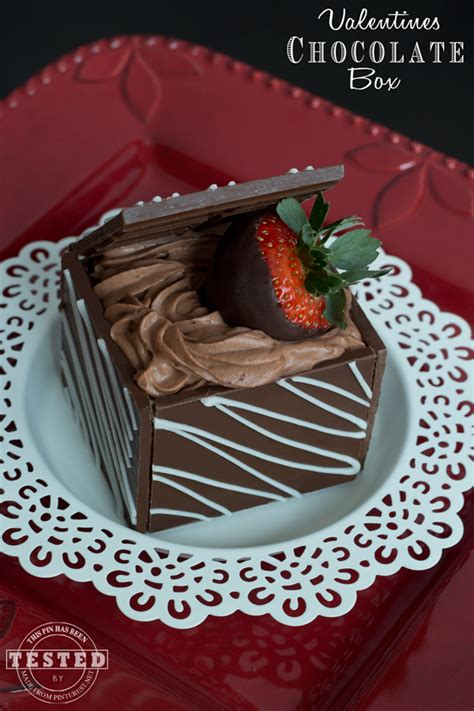 valentines chocolate box made from