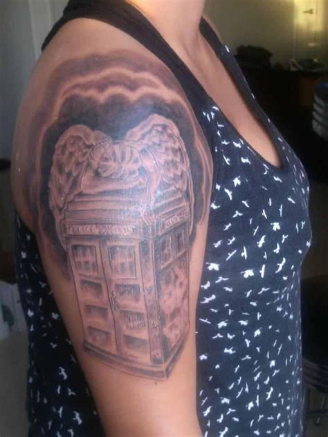 tally mark tattoo my doctor who tardis weeping quot hello