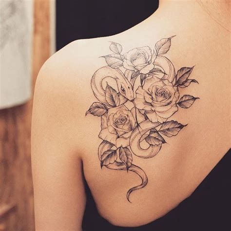 snake and roses tattoo meaning collection of 25 snake in and design