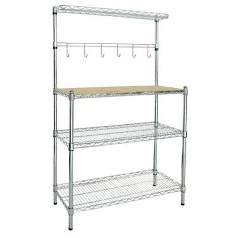 Bakers Rack Home Depot by 2 Shelf Baker S Rack Br351460 The Home Depot
