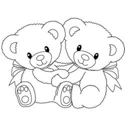 free printable teddy bear coloring pages kids