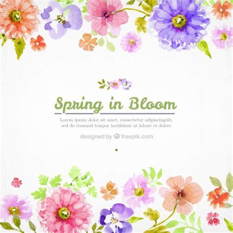 free vector watercolor flowers watercolor flowers spring background vector premium download