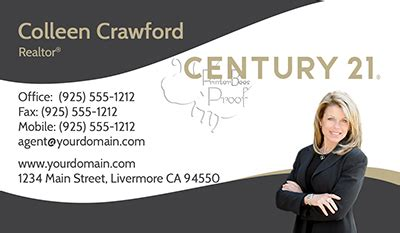Century 21 Business Cards 1000 Business Cards 69 99 Designed And Delivered No Additional Headshot Business Card Template