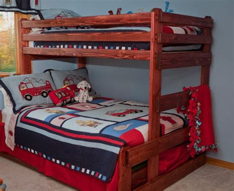 bunk bed queen on bottom twin over full bunk beds