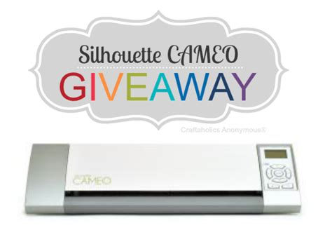 Silhouette Cameo Giveaway - craftaholics anonymous 174 easy monogram lshade