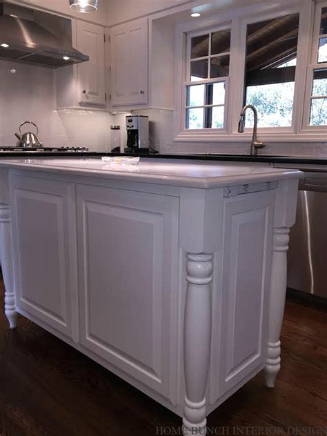 kitchen island feet before after kitchen reno with painted cabinets home