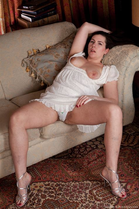 milf sofa sharlyn loves white panties on her hairy pussy pichunter