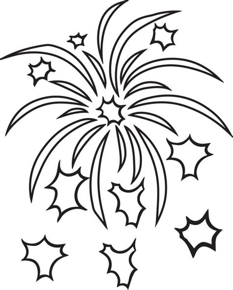 free coloring pages of firework sheets