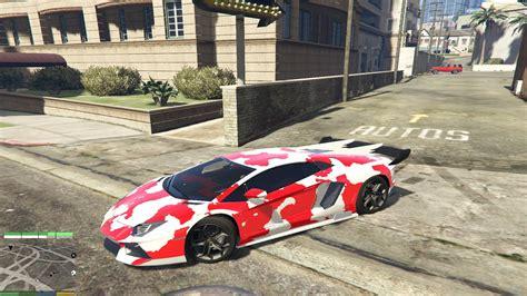 red camo lamborghini lamborghini aventador red camouflage gta5 mods com