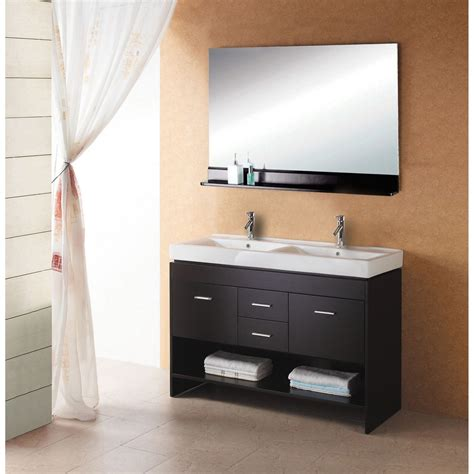virtu bathroom accessories virtu usa gloria 47 quot double sink bathroom vanity